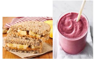 Snack și smoothie: nutriție penttu alergători